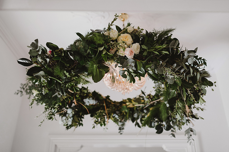 real-wedding-lynda-paul-private-property-home-european-style-provincial-flowers-greenery-arch-way-entrance-house-brisbane-white-white-weddings-floral-wreath