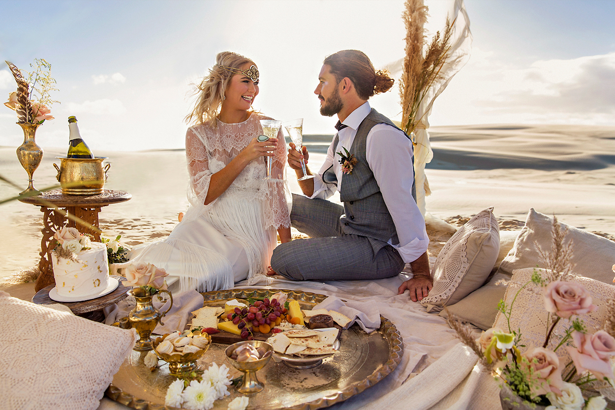 styled-shoot-white-white-weddings-food-platters-desert-bohemian-style-champagne-elopement-tips-sweets-desserts