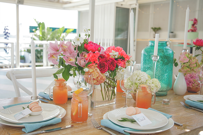 styled-shoot-watsons-bay-sydney-summer-wedding-styling-white-white-weddings-and-events-tablescapes-hampton-chairs-white-colourful-flowers-mason-jars-grapefruit-cocktails-pink-macarons