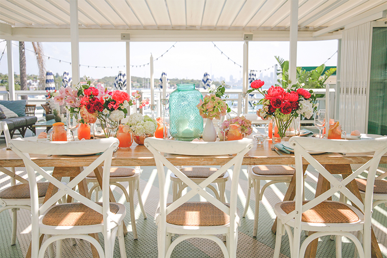 styled-shoot-watsons-bay-sydney-summer-wedding-styling-white-white-weddings-and-events-tablescapes-hampton-chairs-white-colourful