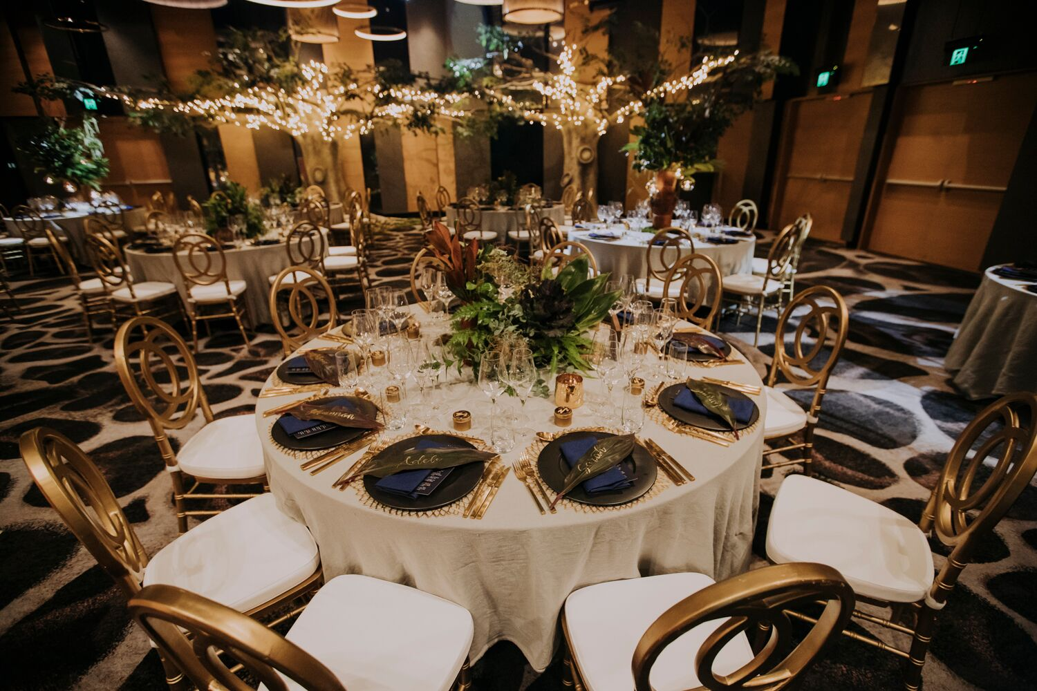 The W Hotel wedding special day suits formal wear jungle green gold accents white white the wedding school