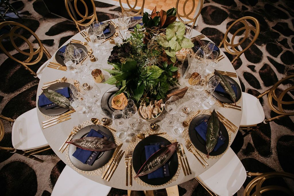 white+white weddings and events the wedding school nick and nate w hotel gold setting tablescape