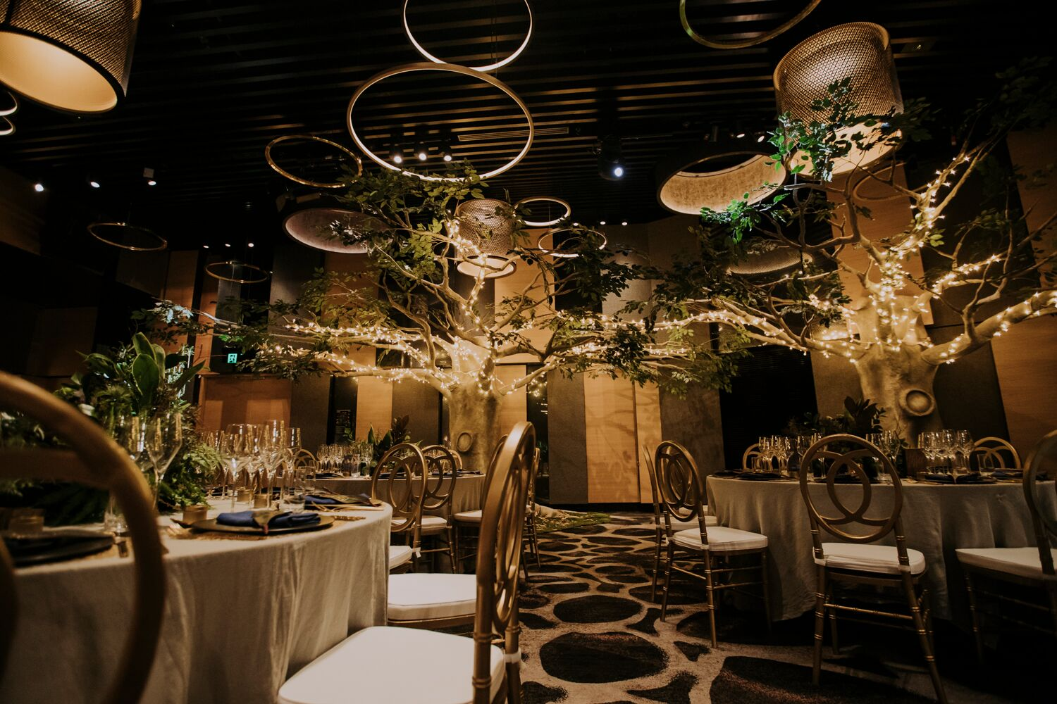 The W Hotel wedding special day suits formal wear gold accents