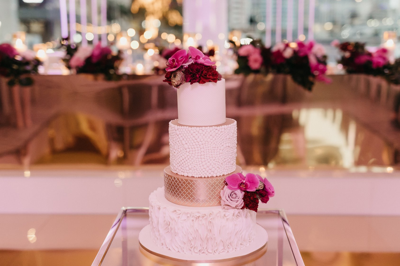 white+white weddings and events the wedding school jenny john black bird private dining wedding cake