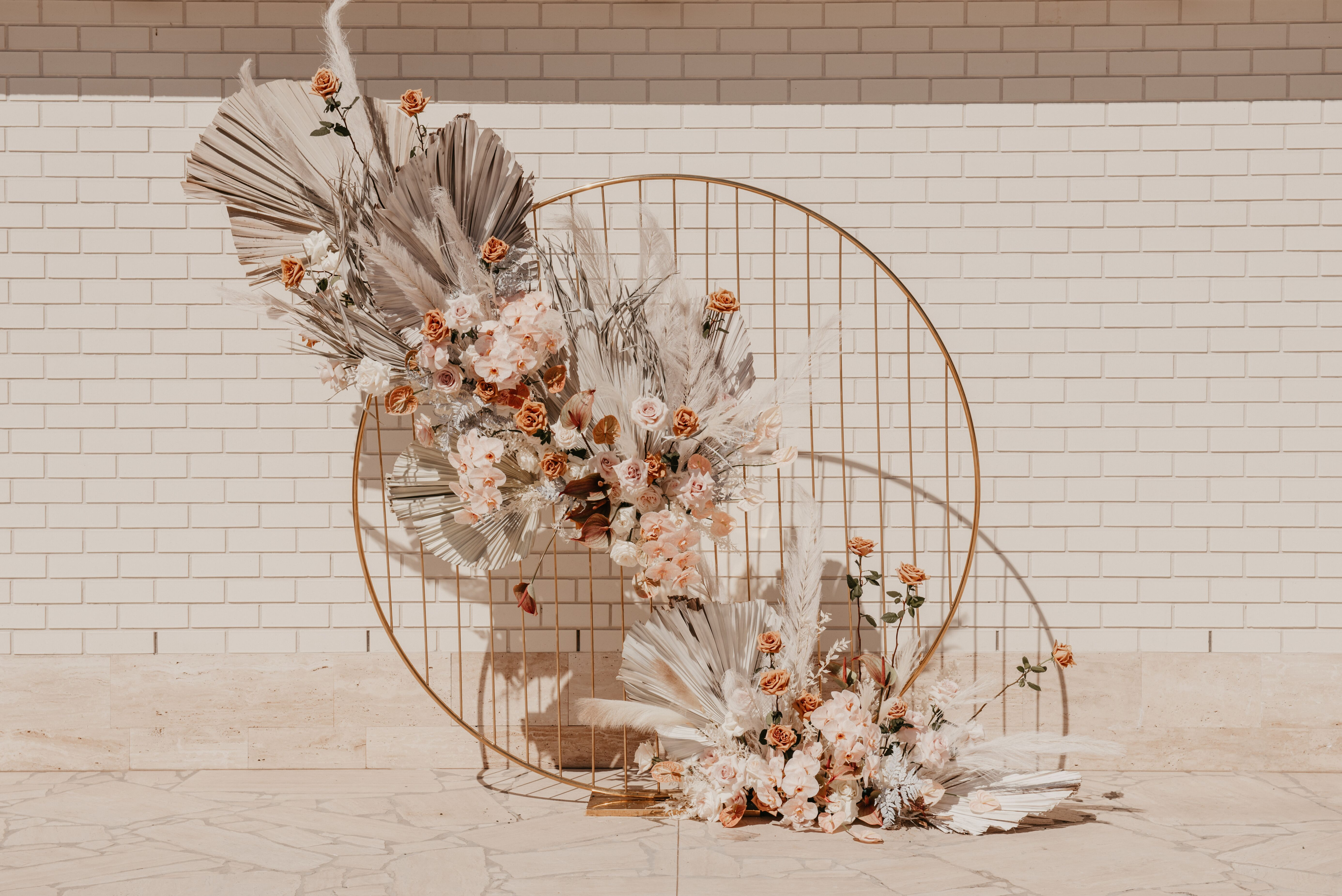 white+white weddings and events the wedding school the calile hotel ceremony blush backdrop