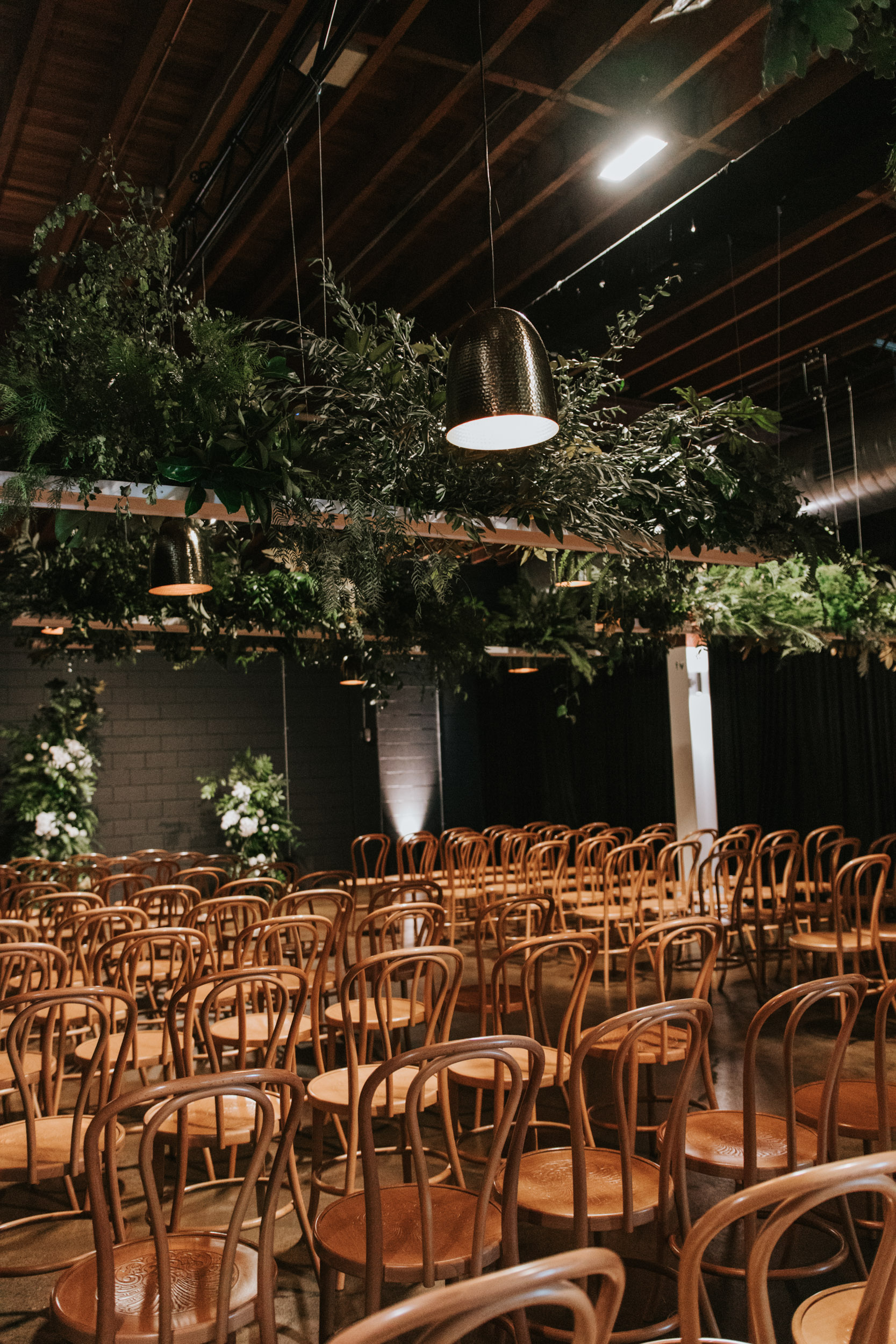 white+white weddings and events the wedding school lightspace ceremony side