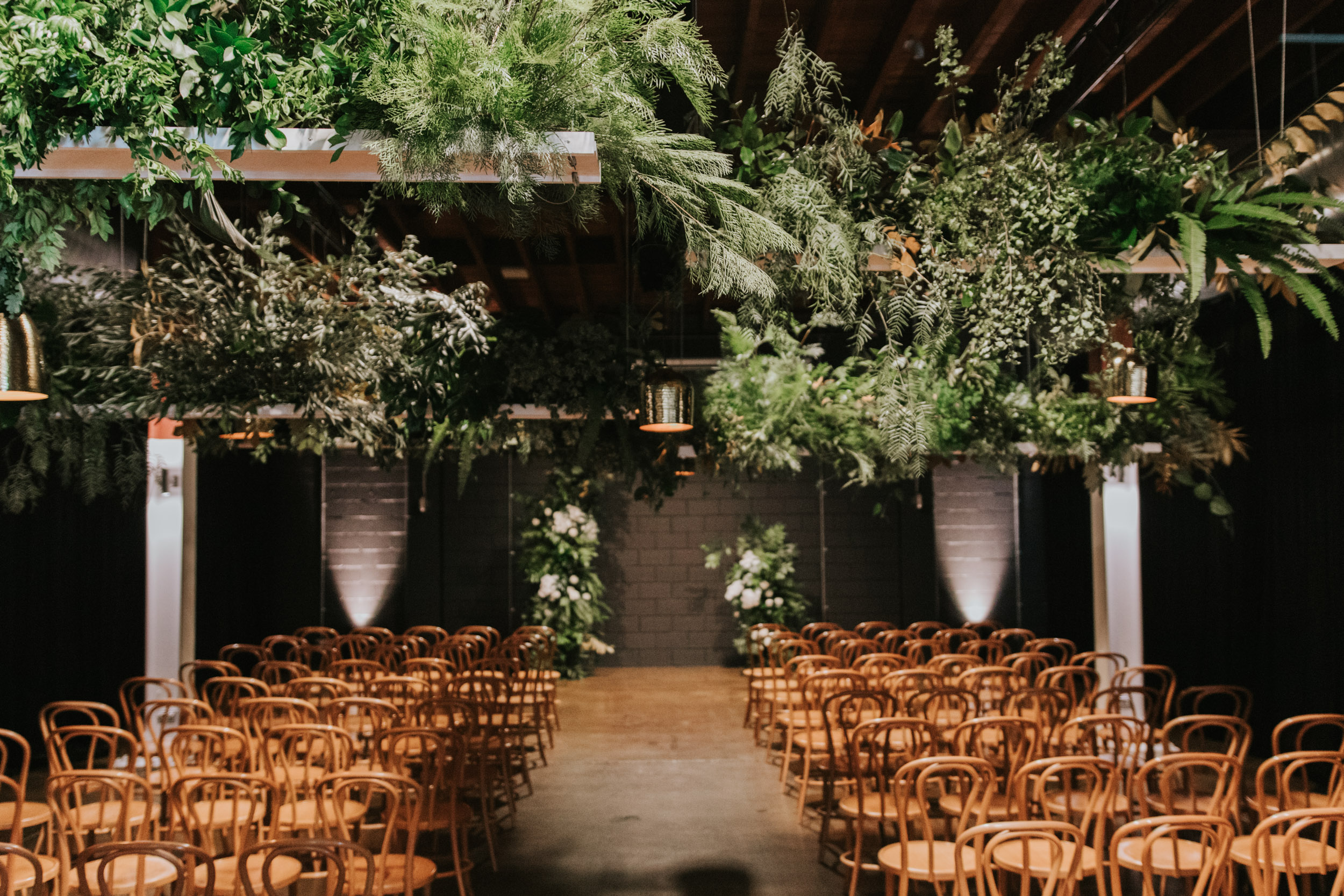 white+white weddings and events the wedding school lightspace ceremony full