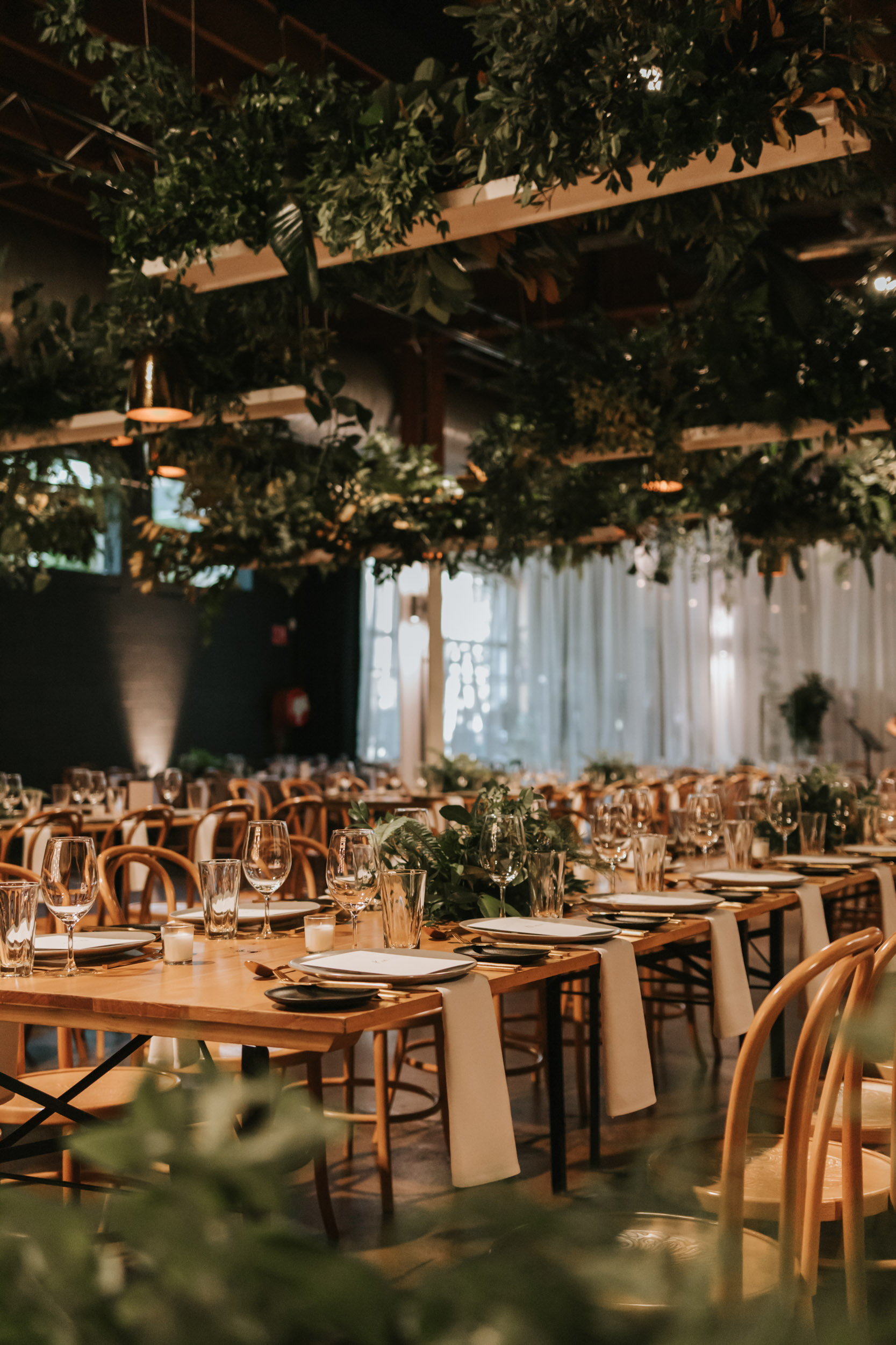 white+white weddings and events the wedding school lightspace reception portrait