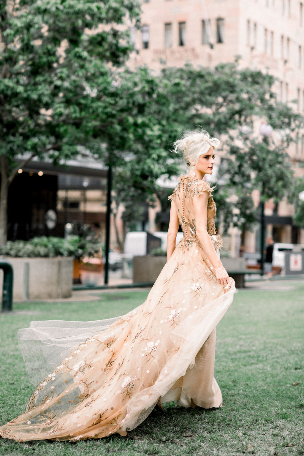 white+white weddings and events the wedding school styled shoot isles lane bride gold wedding dress outdoor ceremony